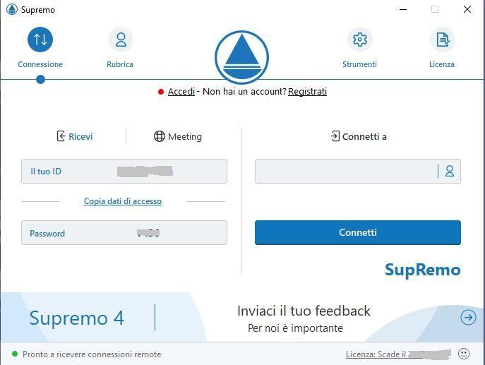 Office online: console SupRemo
